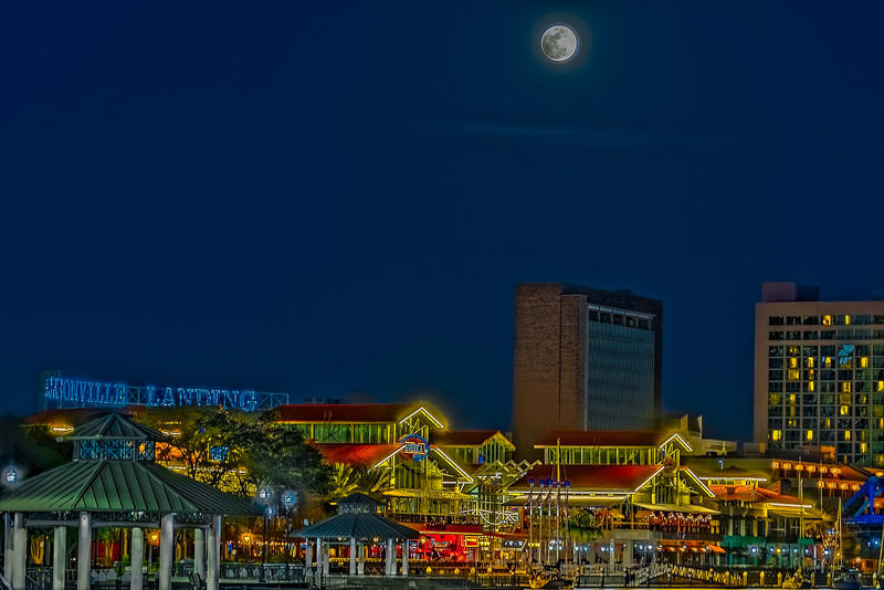 Snow Moon Over Jacksonville Landing