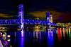 Downtown Jacksonville Florida Main Street Bridge west side. 18 mm AV 11 AEB +/-2 HDR fused Photomatix. Canon T2i