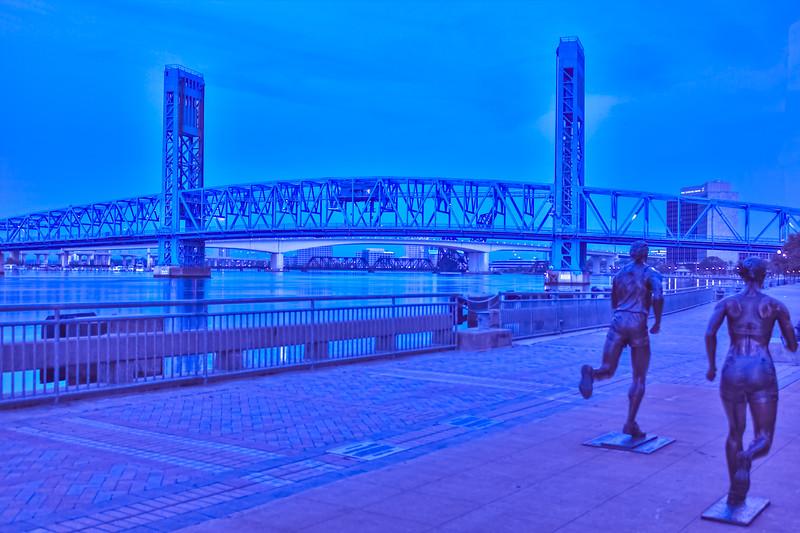 Blue Hour River Walk Run