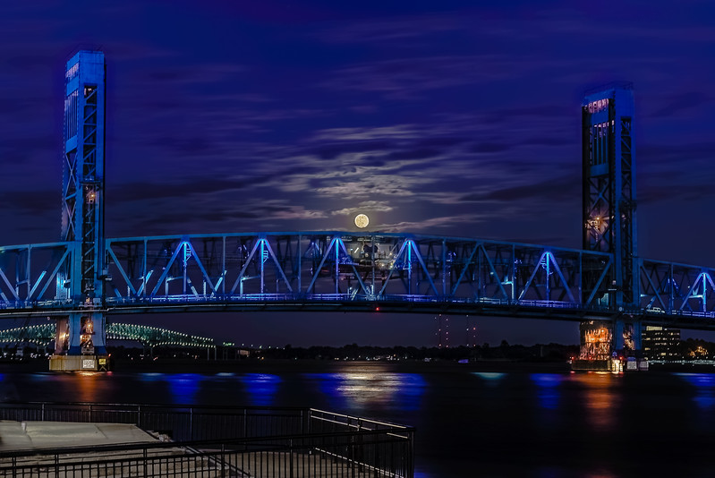 Blue Bridge Moon