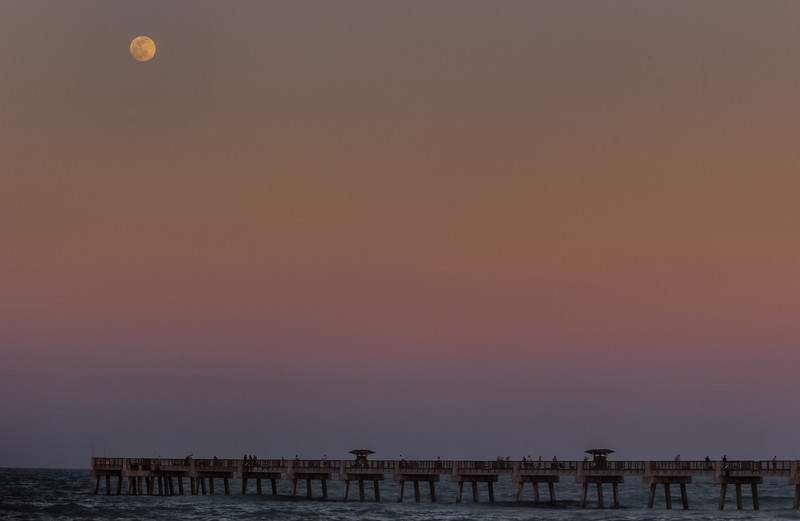 Full  Moon over Pier