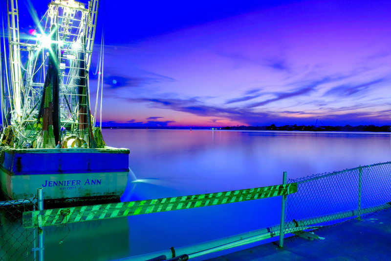 Mayport Florida Shrimp Boat on St. John's River at sunset.