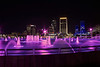 Downtown Jacksonville Fl. Pink Friendship Fountain. Less noise the higher the AV. AV 11 AEB +/- 2  HDR Photomatix. No Photoshop.