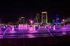 Downtown Jacksonville Fl. Pink Friendship Fountain. Less noise the higher the AV. AV 11 AEB +/- 2  HDR Photomatix. No Photoshop.