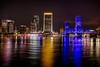 Jacksonville Downtown Night Photomatix.
