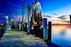 Mayport Florida shrimp boat pier at sunset waiting for the comet that never showed up. Canon T2i f22 HDR Photomatix Fused.