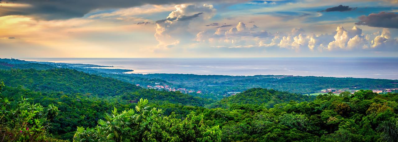Overlooking St. Ann Parish in Jamaica