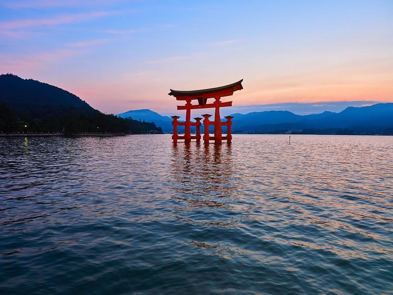 Itsukushima Torii at Sunset - Miyajima, Japan