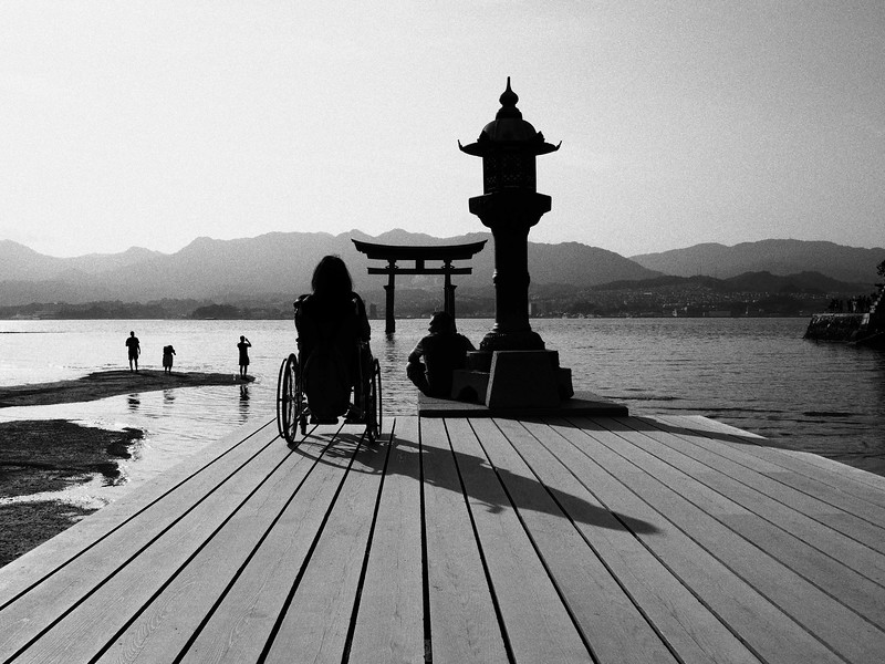 Itsukushima Shrine Monochrome - Miyajima, Japan