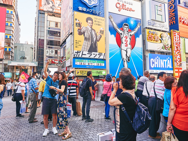 Selfies with the Glico Man - Osaka, Japan