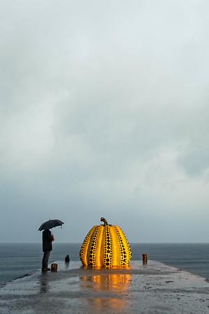 Yayoi Kusama's Yellow Pumpkin (Naoshima Island, Japan)