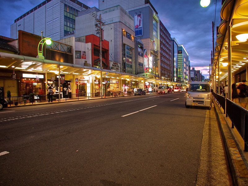 Shijo Dori, Evening - Kyoto, Japan