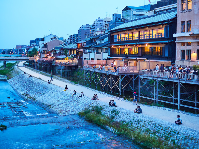 Relaxing by the Kamo River - Kyoto, Japan