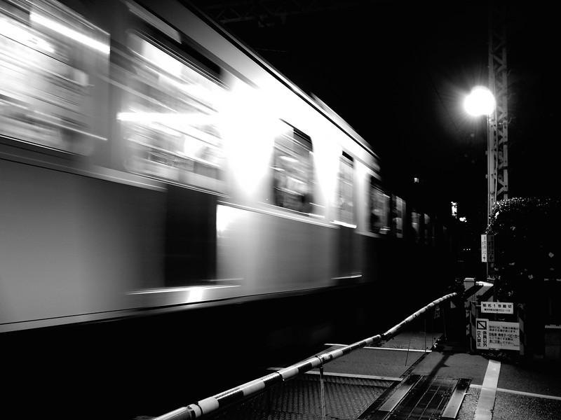 Train at Crossing - Yokohama, Japan