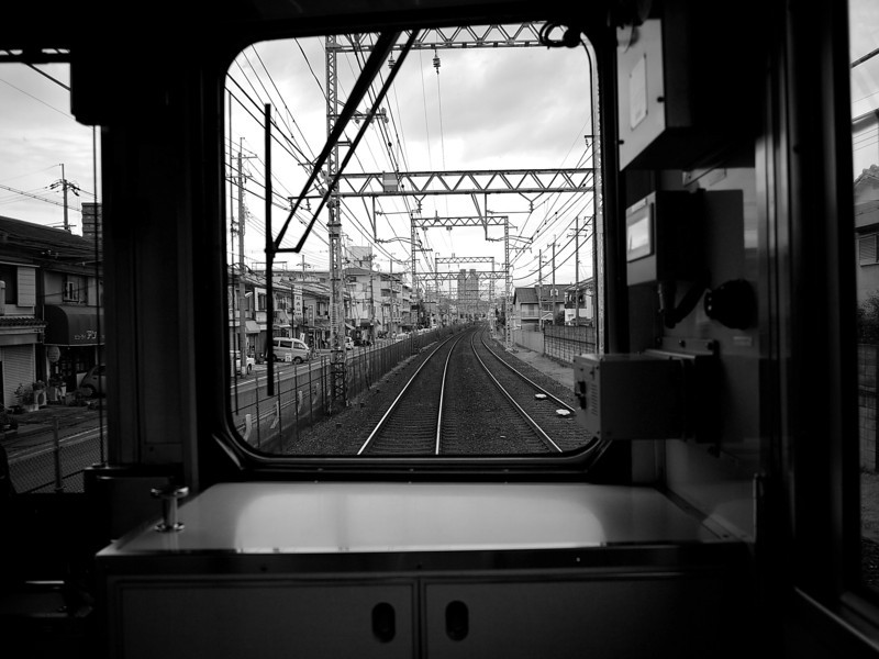 Framed Tracks, Keihan Train - Hirakata, Japan