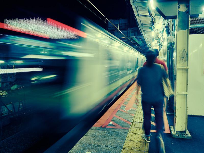 Train Blur - Yokohama, Japan