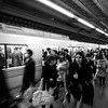 Rushing off the Train - Tokyo, Japan