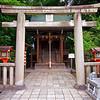 Stone Torii, Yasaka Shrine - Kyoto, Japan