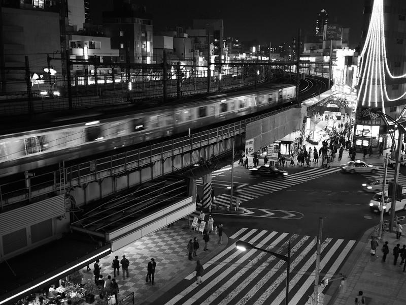 A train enters Ueno Station - Tokyo, Japan