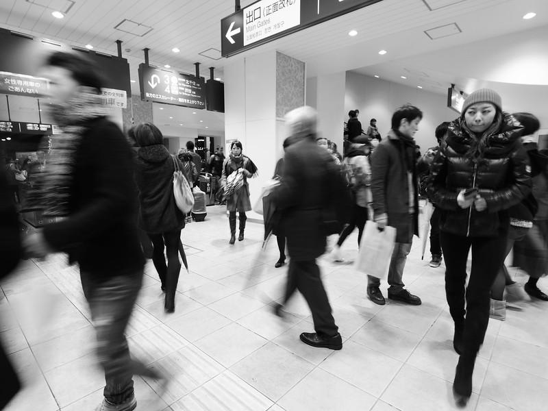 Rushing through the Station - Tokyo, Japan