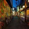 Urban Mural, Kyoto Alleyway - Kyoto, Japan