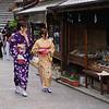Women in Kimono, Nenenosaka - Kyoto, Japan
