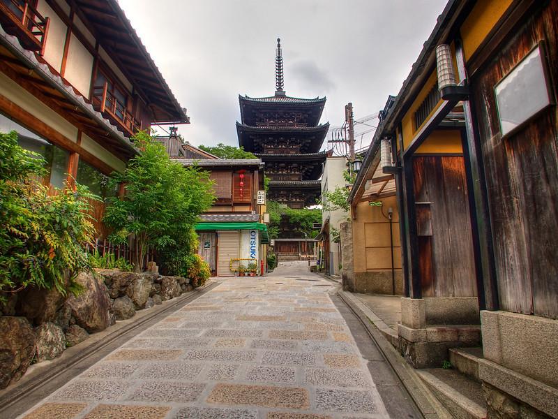 5 Story Pagoda from Kinencho - Kyoto, Japan
