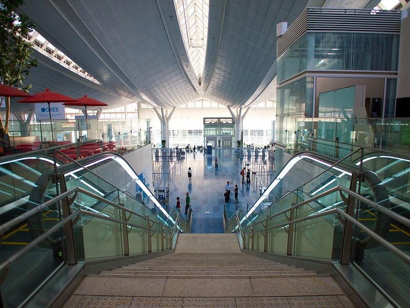 Down to the Departure Lobby, Haneda Airport - Tokyo, Japan