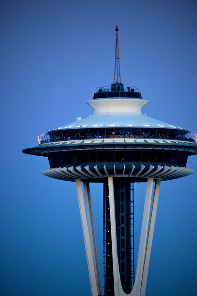 The Seattle Space Needle: I can ALMOST see what's for dinner! Photo by Jared Rogers