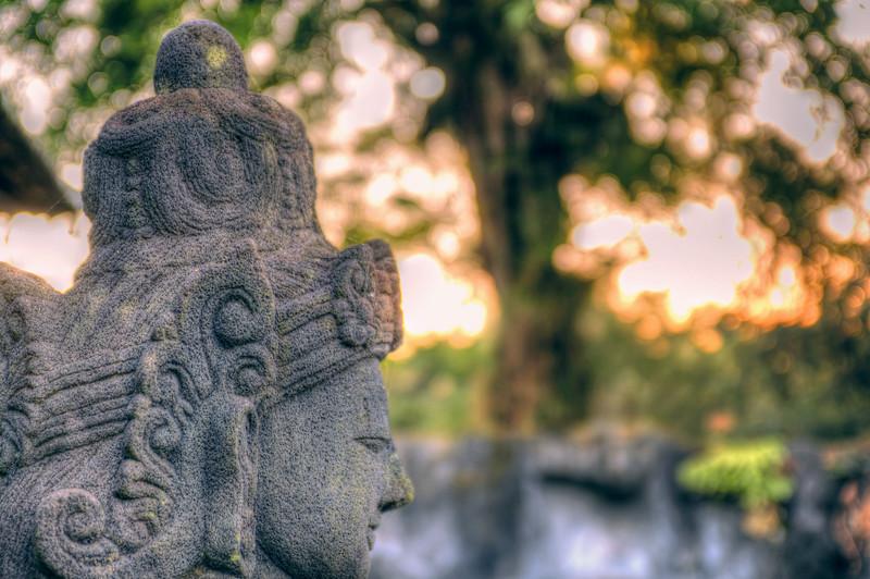 Ancient sculptures in Java