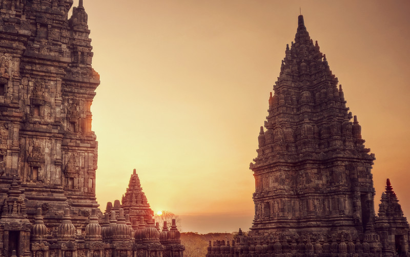 Sunset from Prambanan Temple
