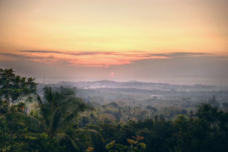 Sunrise at Yogyakarta