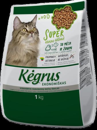 54202 KĖGRUS visavertis kačių ėdalas EKONOMIŠKAS, 1 kg