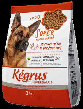 54200 KĖGRUS visavertis šunų ėdalas UNIVERSALUS, 3 kg