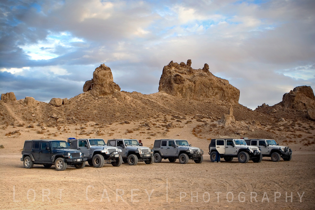 Jeeps at Trona Pinnacles National Natural Landmark