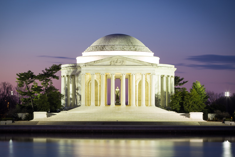 Sunrise at Jefferson Memorial