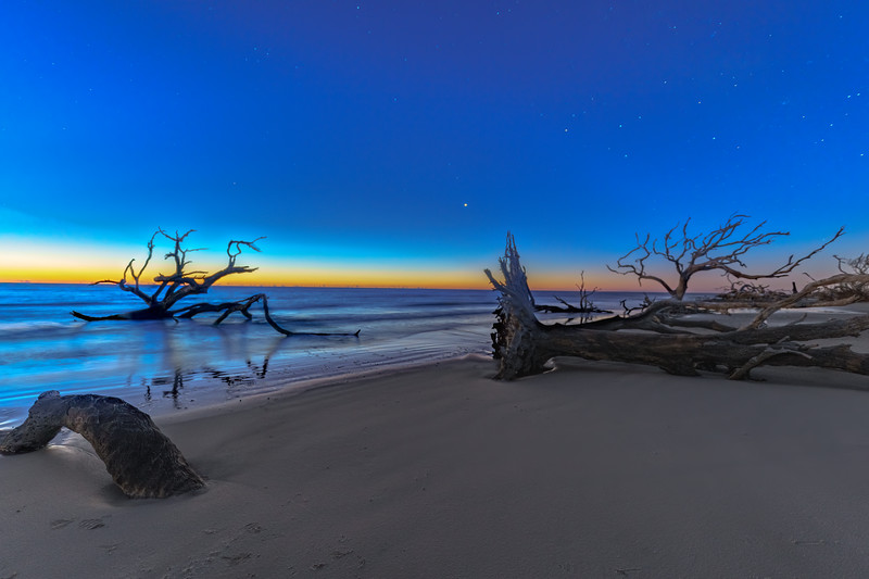 Beach Blue Hour