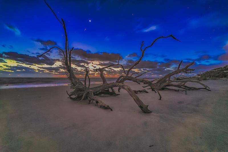 Venus, Jupiter and Mars at Twilight