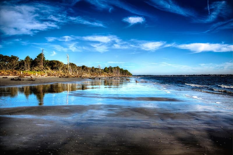 Driftwood Beach Morning Sunrise Walk Jekyll Island Ga. Canon T2i HDR Photomatix