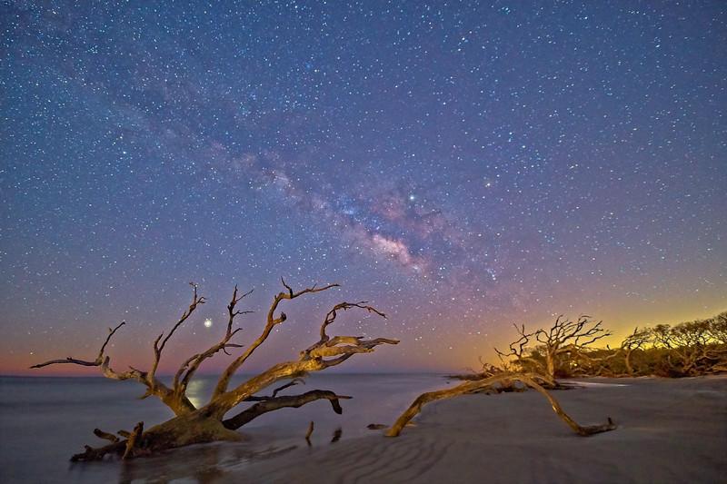 Star Lit Beach at First Light