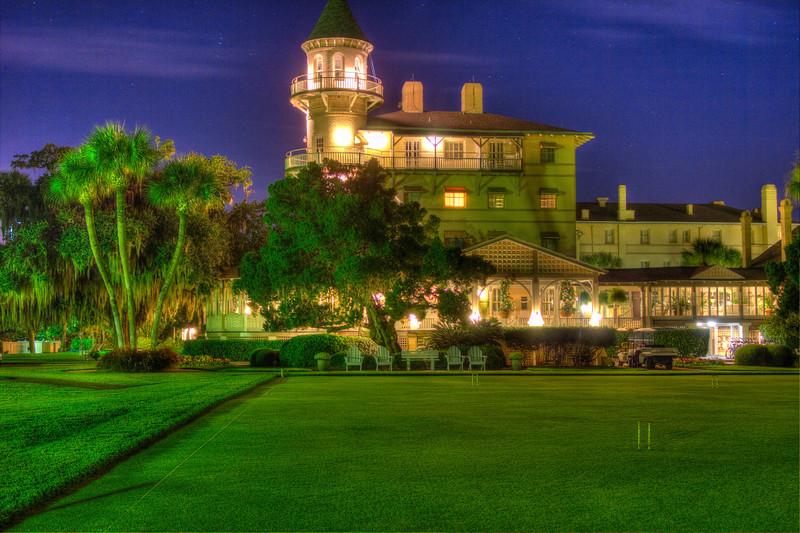Jekyll Island Club Hotel at Halloween Night.