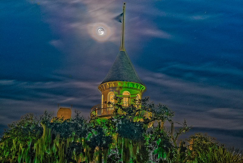 Harvest Moon over Honeymooner's Tower