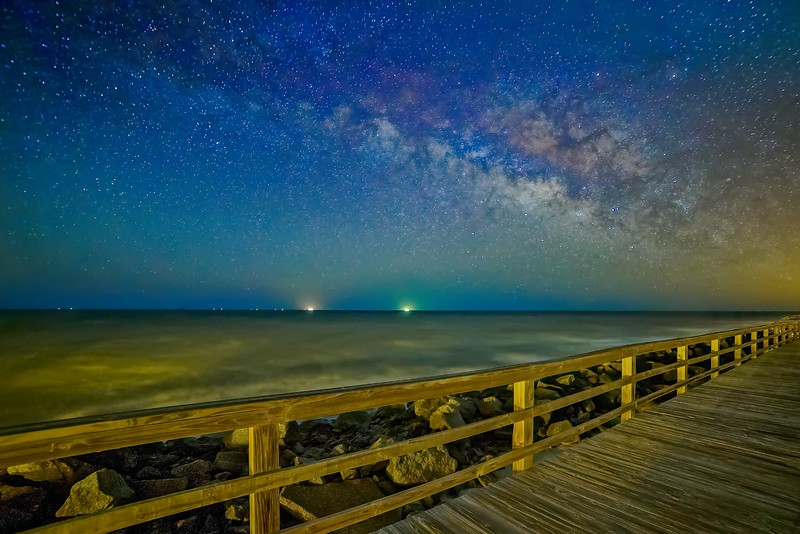 Milky Way over the Railing