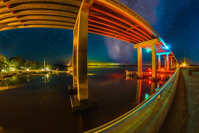 Cosmos Eye Under a Bridge
