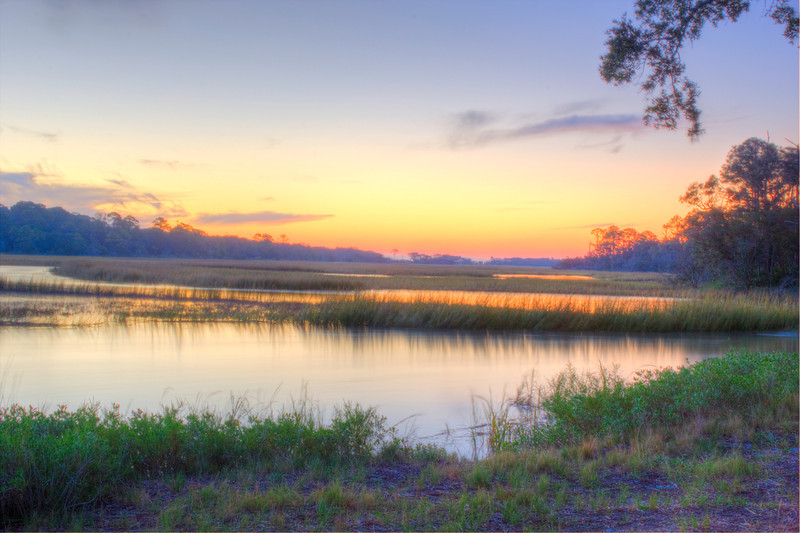 First Light Over March Jekyll Island Ga. Photomatix HDR Canon T2i