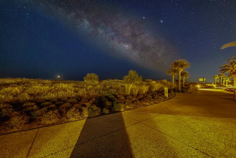 Glowing Night Sky
