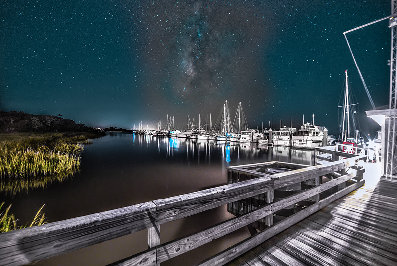 Galactic Eye over Jekyll Marina