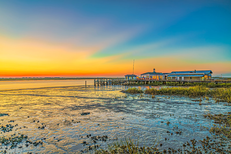 Colorful Sunset at Low Tide