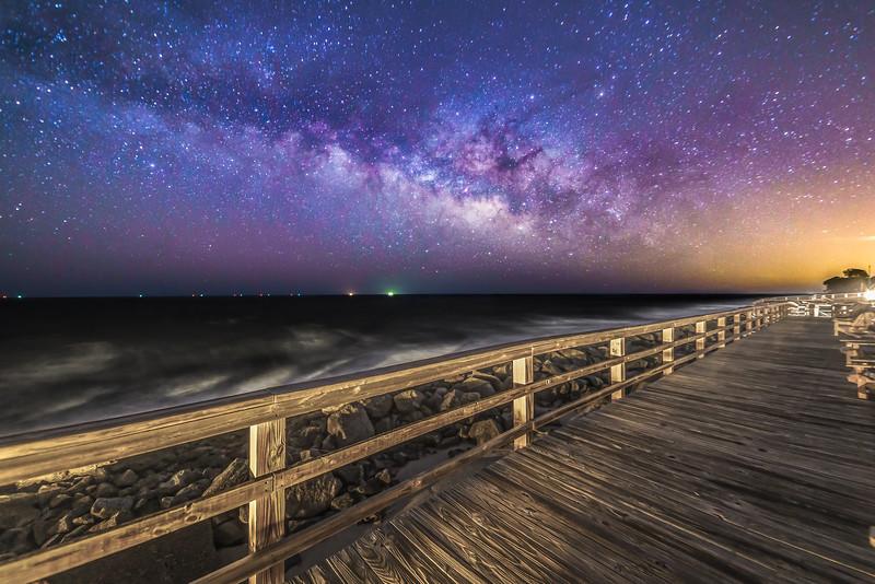 Universe Rises Above the Boardwalk