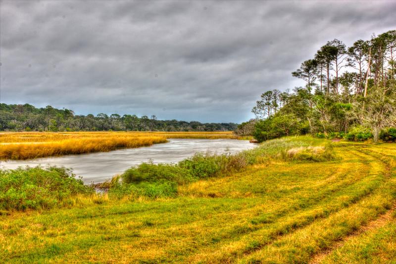 Morning Horse Trail Hurricane Sandy Jekyll Island Ga. Photomatix HDR. Canon T2i.